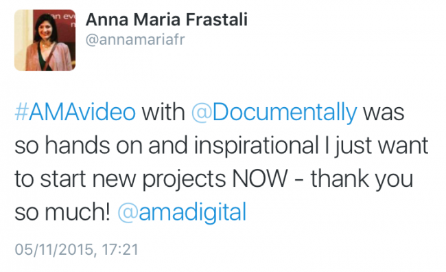 Video workshop comment