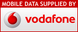 Mobile data supplied by Vodafone