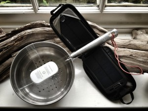Solar powered parabolic 3G steamer WiFi
