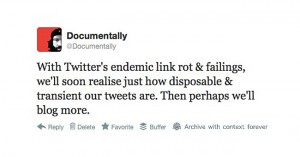 A tweet is not just a tweet – Linkrot and our digital history.
