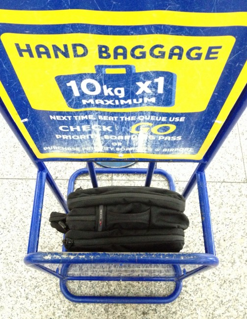Ryan Air Bag measuring cage
