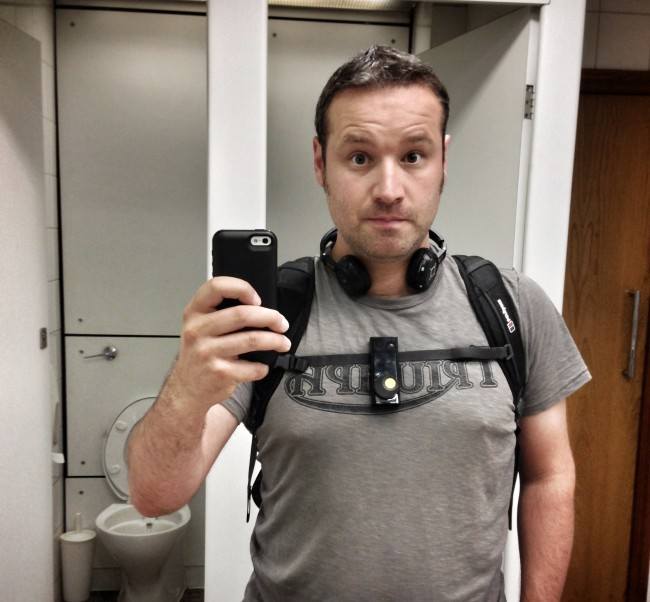 Me in loo 650x602 Autographer, a review of the world first intelligent wearable camera.