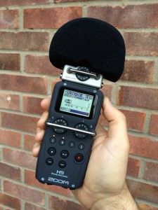 Zoom H5 with mic windshield