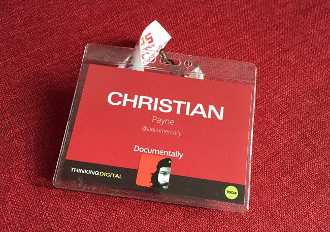 Thinking Digital conference badge