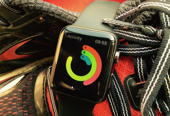 Apple watch on Brooks trainers